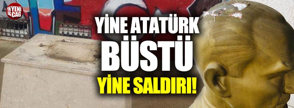 Okul bahçesindeki Atatürk büstüne saldırı