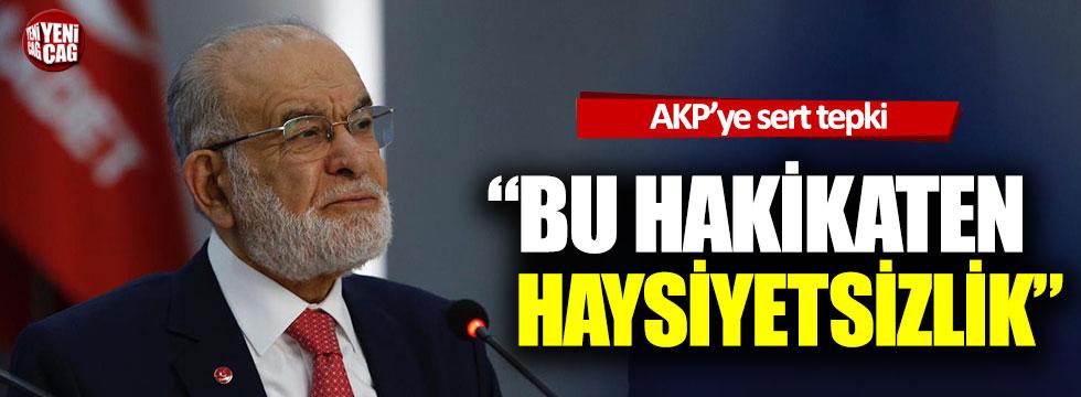 Temel Karamollaoğlu'ndan AKP'ye sert tepki