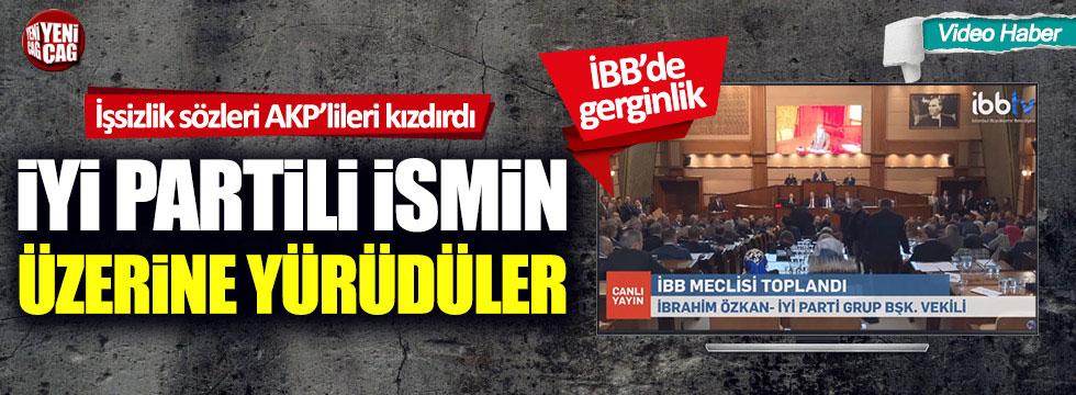AKP'liler İYİ Partili İbrahim Özkan'ın üzerine yürüdü
