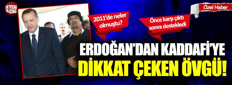 Recep Tayyip Erdoğan'ın Kaddafi'nin devrilmesine verdiği destek yeniden gündemde