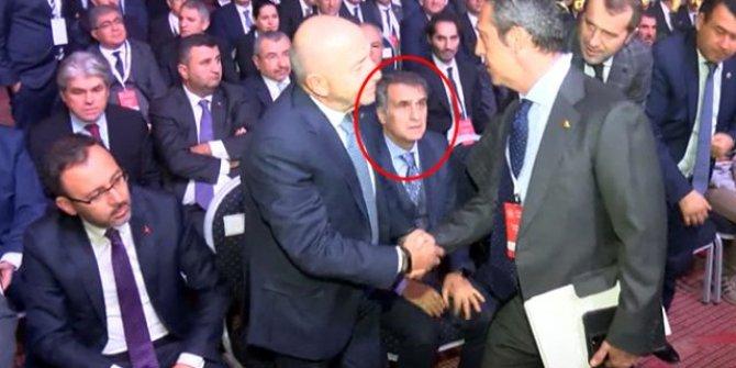 Ali Koç ile Şenol Güneş'in selamlaşması gündem oldu