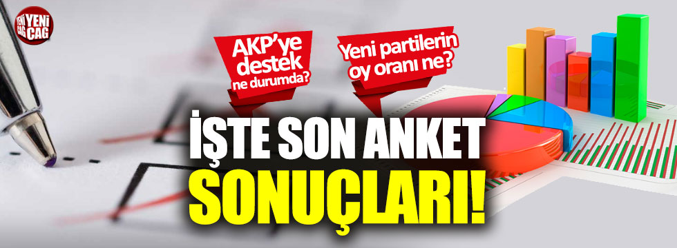 İşte son anket sonuçları: AKP, CHP, MHP, İYİ Parti, Ahmet Davutoğlu, Ali Babacan...