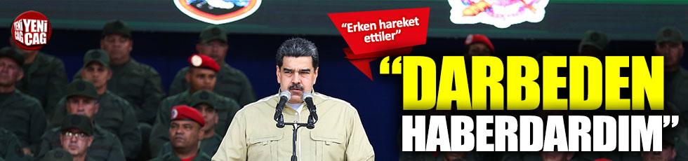 """Maduro: """"Darbeden haberdardım"""""""