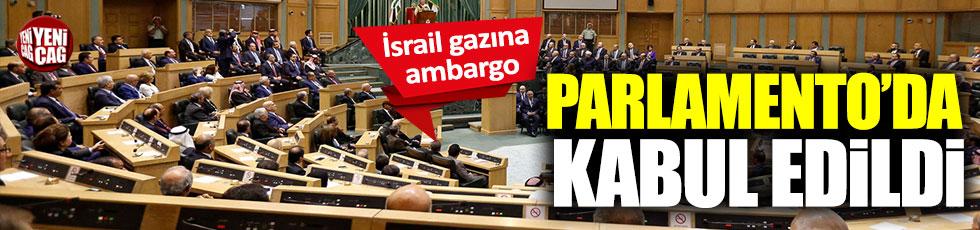 Ürdün Parlamentosu'ndan İsrail gazına ambargo