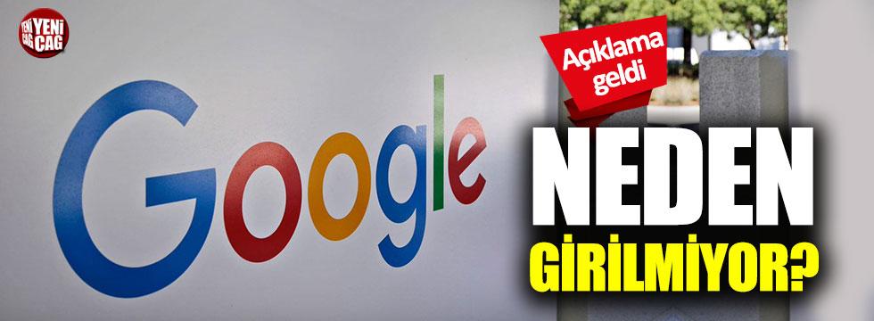 Google çöktü mü? Açıklama geldi