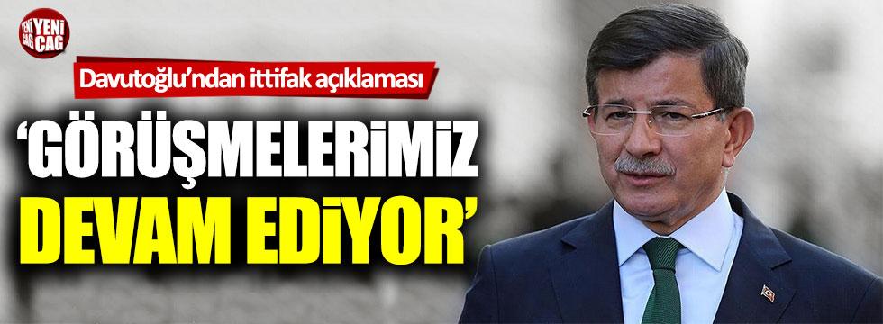 Gelecek Partisi lideri Ahmet Davutoğlu'ndan ittifak açıklaması