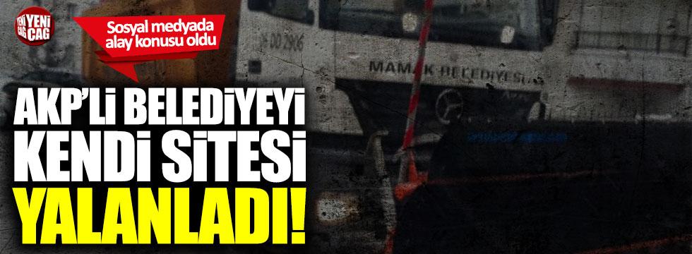 AKP'li başkan Murat Köse'yi belediyenin kendi sitesi yalanladı