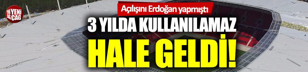 Eskişehir Yeni Atatürk Stadı 3 yılda kullanılamaz hale geldi!