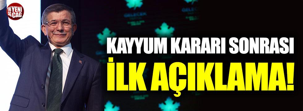 Ahmet Davutoğlu'ndan kayyum açıklaması