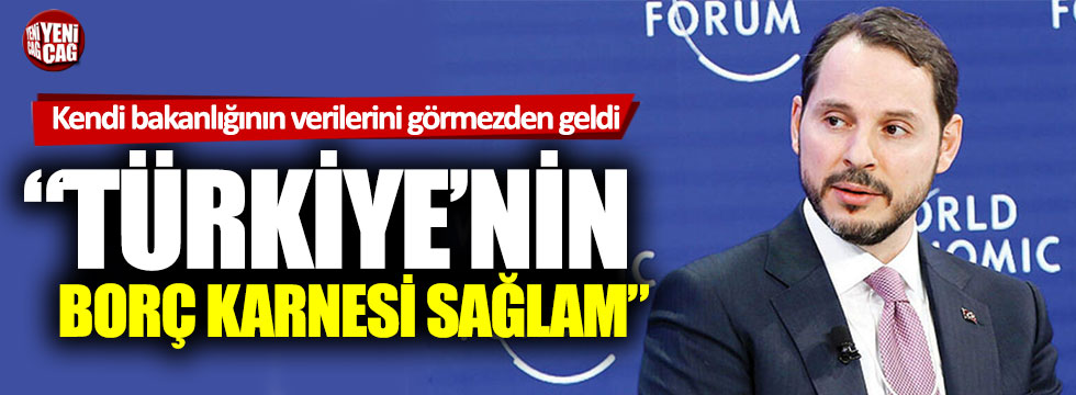 """Berat Albayrak: """"Türkiye'nin borç karnesi sağlam"""""""