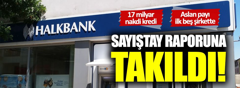Halkbank Sayıştay raporuna takıldı