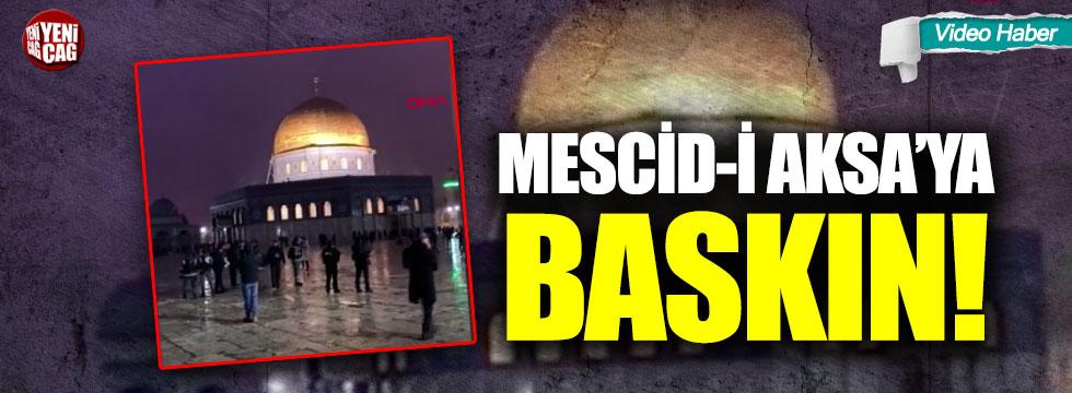 İsrail polisinden Mescid-i Aksa'ya baskın!