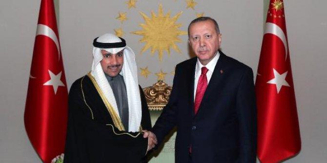 Erdoğan Kuveyt Ulusal Meclis Başkanını kabul etti