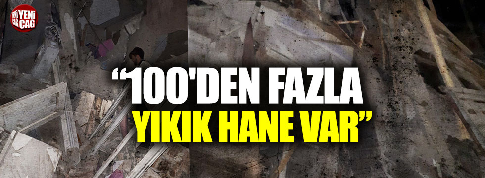 Malatya Pötürge'de 100'den fazla yıkık hane var