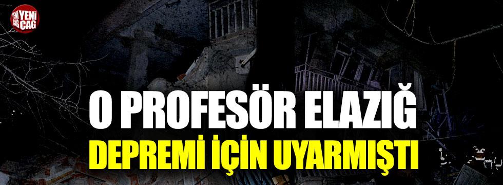 Elazığ'daki depremi günler öncesinden tahmin etti