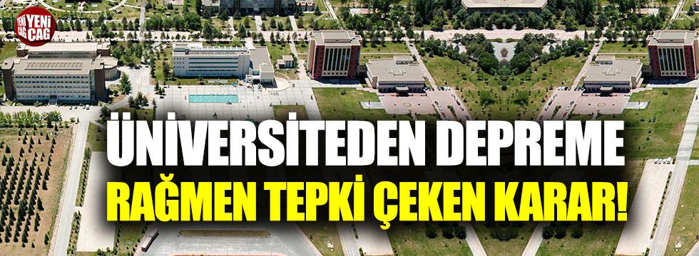 Elazığ'daki depremin ardından İnönü Üniversitesi'nden tepki çeken karar