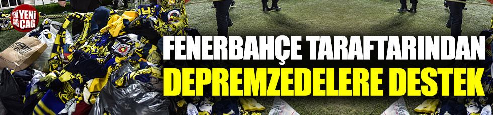 Fenerbahçe taraftarından depremzedelere destek