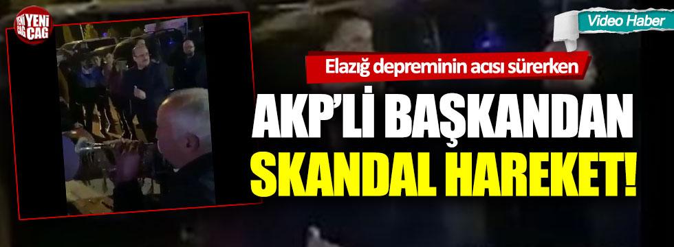 Elazığ depreminin acısı sürerken, AKP'li başkandan skandal hareket