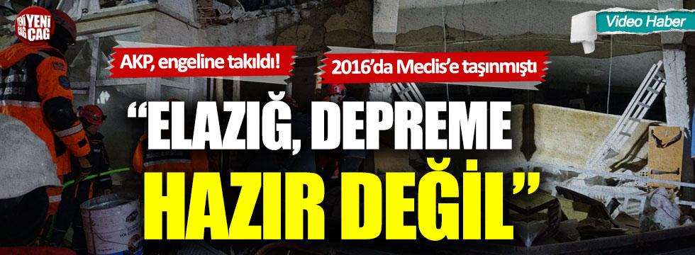 CHP'li Ali Özcan'ın Elazığ için verdiği araştırma önergesi AKP engeline takıldı!