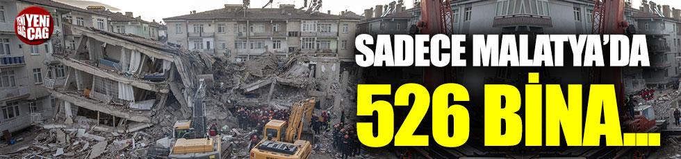 Malatya Valiliği, ağır hasar gören bina sayısını açıkladı