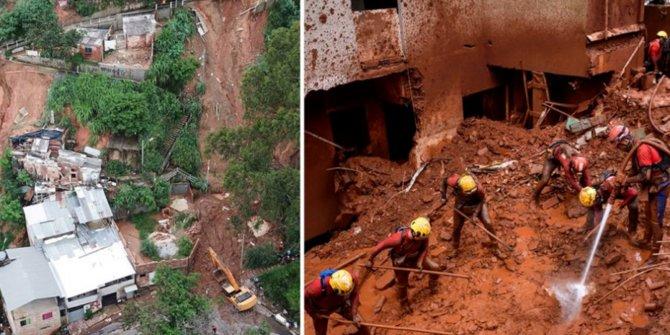 Brezilya'da sel ve heyelan
