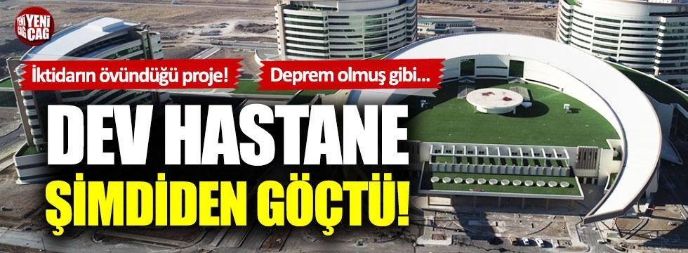 İktidarın övündüğü Erzurum Şehir Hastanesi şimdiden göçtü!