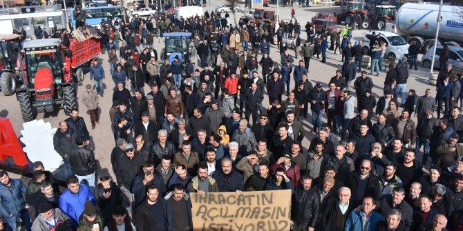 Soğana ihracat kısıtlaması protesto edildi