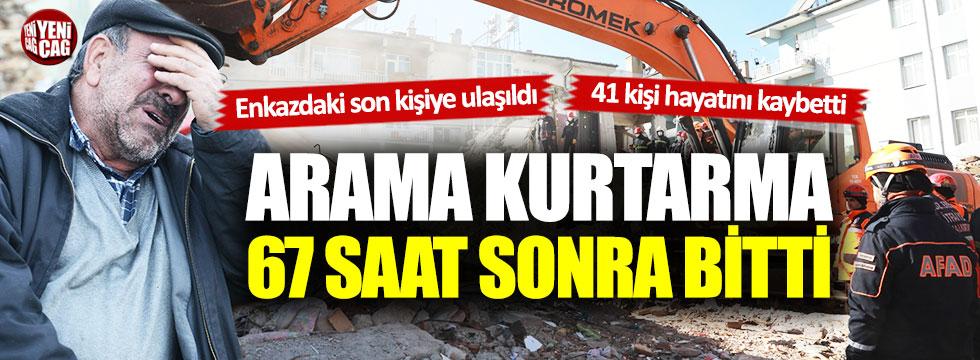 Elazığ'da son durum: Arama kurtarma çalışmaları sona erdi