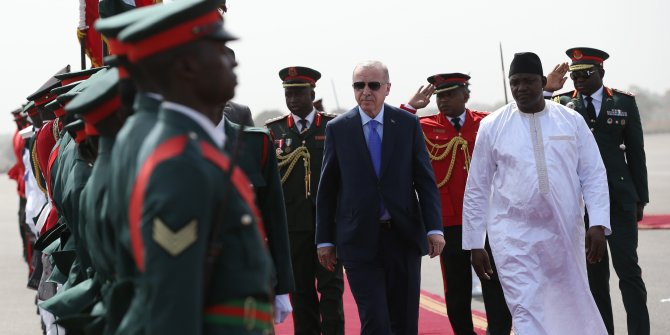 Cumhurbaşkanı Tayyip Erdoğan Gambiya'da
