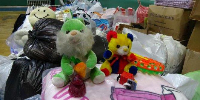 Çocuklar oyuncaklarını gönderdi