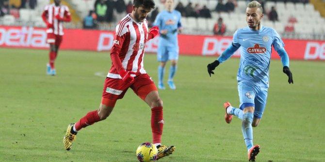 Sivasspor-Rizespor: 1-1 (Maç özeti)