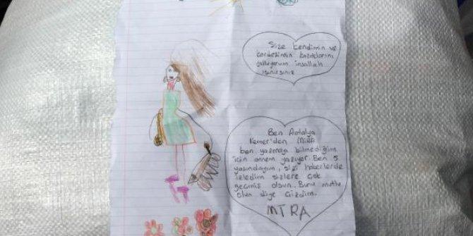 5 yaşındaki Mira'dan duygulandıran mektup
