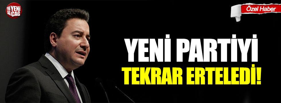 Ali Babacan yeni partiyi tekrar erteledi!