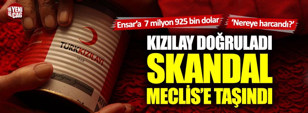 Kızılay'dan Ensar Vakfına aktarılan para Meclis gündeminde