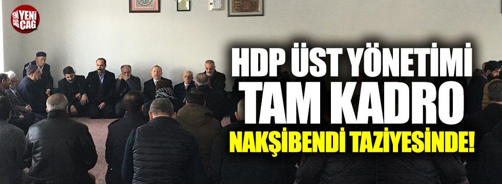 HDP'nin üst yönetimi Nakşibendi taziyesinde!