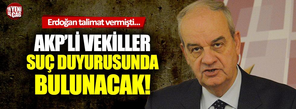 Erdoğan talimat verdi AKP'li vekiller suç duyurusu için harekete geçti