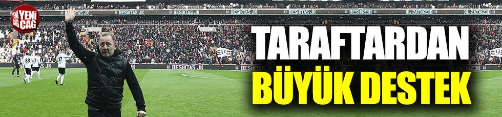 Sergen Yalçın'a Beşiktaş taraftarından büyük destek