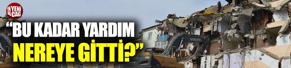 """Elazığlı depremzedeler sordu: """"Bu kadar yardım nereye gitti?"""""""