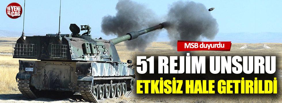 MSB: 51 rejim unsuru etkisiz hale getirildi