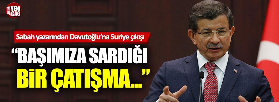 """Hıncal Uluç'tan Davutoğlu'na Suriye çıkışı: """"Başımıza sardığı bir çatışma…"""""""