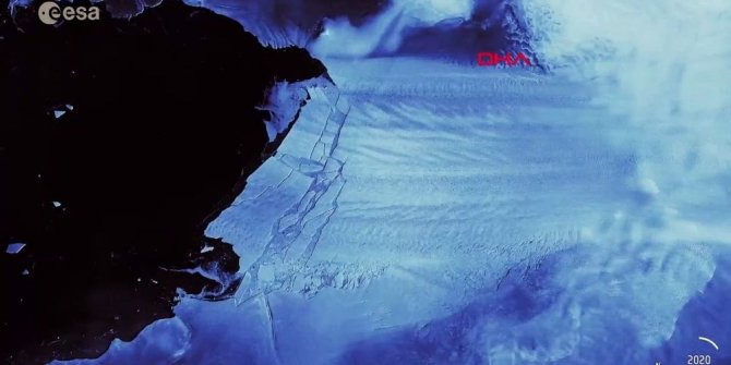 Antarktika'da dev buzul yok oldu!