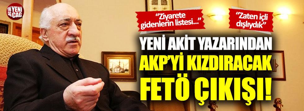 İktidara yakın yazardan AKP'yi çok kızdıracak FETÖ yazısı!