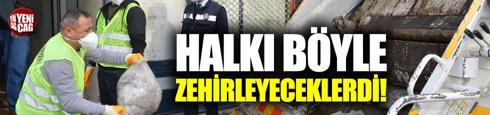 İzmir'de kaçak sakatat ve kelle ele geçirildi