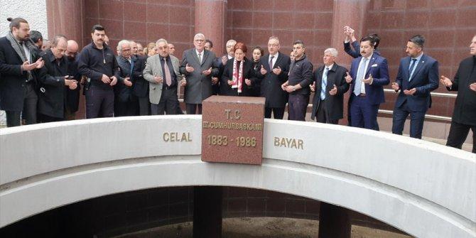 Meral Akşener'den Celal Bayar'ın anıtına ziyaret