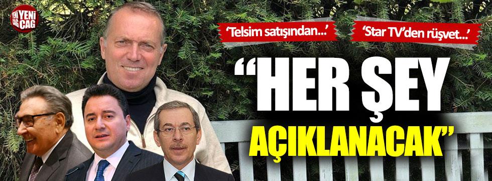 Cem Uzan tek tek sıraladı: Abdüllatif Şener, Ali Babacan, Aydın Doğan...