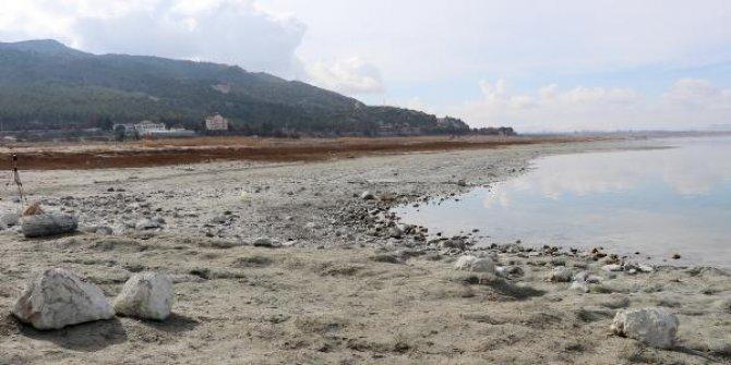 Burdur Gölü'nde kuraklık tehlikesi