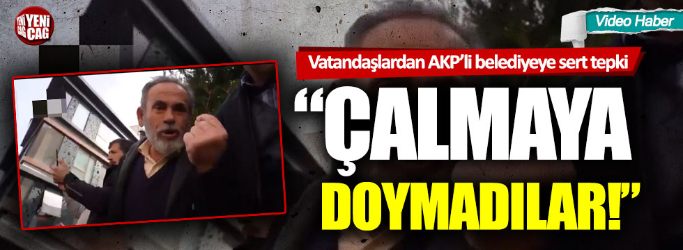 """Sultanbeyli'de vatandaşların tapu bedeli isyanı: """"Çalmaya doymuyorlar!"""""""