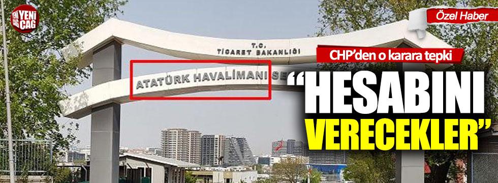 CHP'den o karara tepki: Atatürk'ün ismine bile tahammülleri yok!