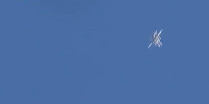 Rusya'nın hava saldırısı böyle görüntülendi