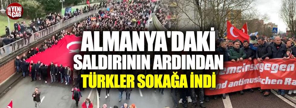 Almanya'daki saldırının ardından Türkler sokağa indi
